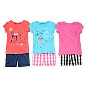Okie Dokie® Tee, Gingham Shorts or Bermuda Shorts - Toddler Girls 2t-5t