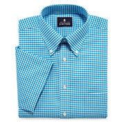 Stafford® Travel Wrinkle-Free Short-Sleeve Oxford Dress Shirt - Big & Tall
