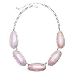 Mixit™ Pink Faceted Collar Necklace