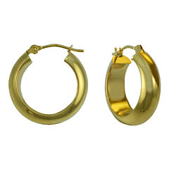 14K Gold Thick Hoop Earrings