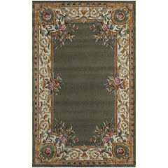 Momeni® Open Field Hand-Carved Wool Rectangular Rug