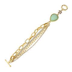 Worthington® Mint Stone Multi Chain Bracelet