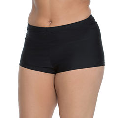 Aqua Couture Solid Swim Shorts Plus