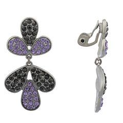 Monet Jewelry Purple Clip On Earrings
