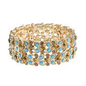 Monet Jewelry Womens Blue Stretch Bracelet