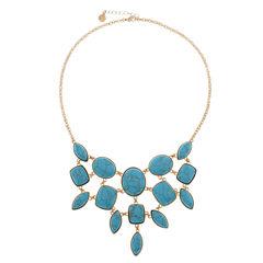 Monet Jewelry Blue Statement Necklace