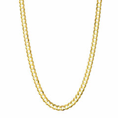 14K Yellow Gold 3.6 MM Curb Necklace 24