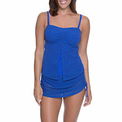 Aqua Couture Crochet Bandeaukini or Crochet Swim Skirt