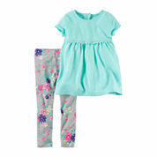 Carter's Girls Legging Set-Baby