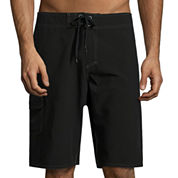 Burnside Ripped Solid Stretch Board Short