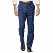 Stafford Travel Stretch Flat Front Suit Pants-Classic Fit