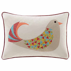 Madison Park Holiday Partridge Oblong Throw Pillow