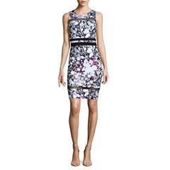 Belle + Sky Sleeveless Mesh Inset Bodycon Dress