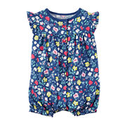 Carter'S Navy Floral Creeper -Baby