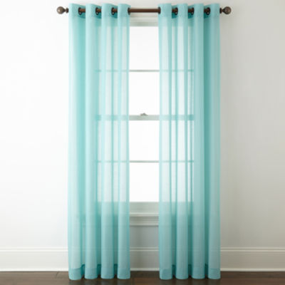 Charming JCPenney Home Batiste Grommet Top Sheer Curtain Panel