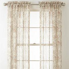 Royal Velvet Cholet Rod-Pocket Sheer Curtain Panel