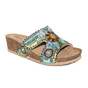 Modellista Batina Sequin Slide Wedge Sandals