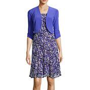 Perceptions Short-Sleeve Floral Print Jacket Dress