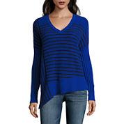 a.n.a Asymmetric Long Sleeve Pullover Sweater