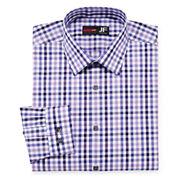 JF J. Ferrar® Easy-Care Cotton Stretch Dress Shirt - Slim Fit