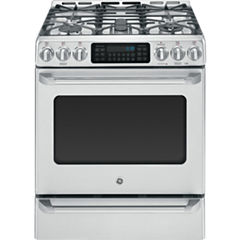 GE Cafe 5.4 Cu. Ft. Dual-Fuel Range with Self Cleaning Convection Oven & Baking Drawer