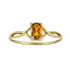 Genuine Yellow Citrine 14K Yellow Gold Ring