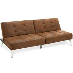 Click Clack Cade Microfiber Convertible Sofa Bed