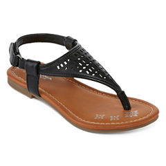 Arizona Acacia Girls Flat Sandals -Little Kids