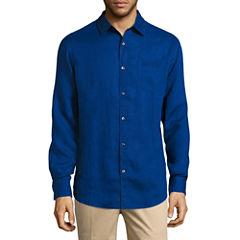 Claiborne Long Sleeve Linen Button-Front Shirt