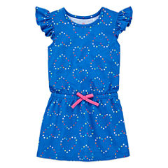 Okie Dokie Short Sleeve Cap Sleeve Sundress - Toddler Girls