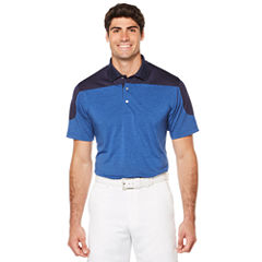 PGA TOUR Short Sleeve Pro Series Heather Block Polo- Big & Tall