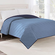 Martex Solid Reversible Coverlet