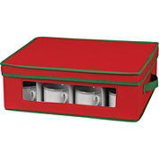 Household Essentials® Red Holiday Cup Storage Chest