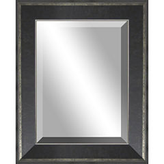 Lena Distressed with Silver Edges Wall Mirror