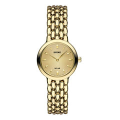 Seiko Womens Gold Tone Bracelet Watch-Sup352