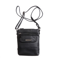 Stone And Co Ns Flap Pocket Pebble Leather Mini Crossbody Bag