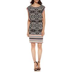 London Style Short Sleeve Blouson Dress