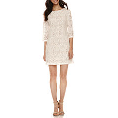 Ronni Nicole 3/4 Sleeve Lace Sheath Dress