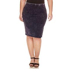 Decree Side Slit Bodycon Skirt - Juniors Plus