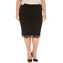 Worthington® Lace Midi Pencil Skirt - Plus