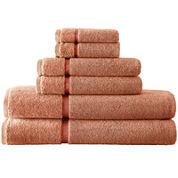 Pacific Coast Textiles™ Velour Border 6-pc. Bath Towel Set