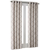 Madison Park Westmont Fretwork Print Grommet-Top Curtain Panel