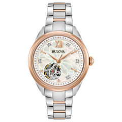 Bulova Womens Two Tone Bracelet Watch-98p170