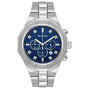 Bulova Mens Silver Tone Bracelet Watch-96d138