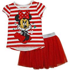 Disney by Okie Dokie 2-pc. Minnie Mouse Skirt Set Preschool Girls