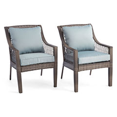Outdoor Oasis™ Latigo Wicker Dining Chair set of 2