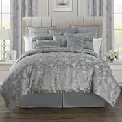 Marquis by Waterford® Samantha Platinum Floral 4-pc. Comforter Set & Accessories