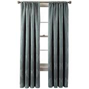 Liz Claiborne® Blakely Damask Rod-Pocket Curtain Panel