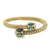 nicole by Nicole Miller® Blue and Green Coil Bracelet