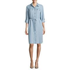 Ronni Nicole Long Sleeve Shirt Dress